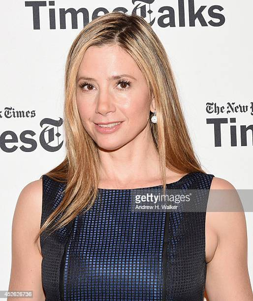 Actress Mira Sorvino attends 'TimesTalks' at Times Center on July 24 2014 in New York City