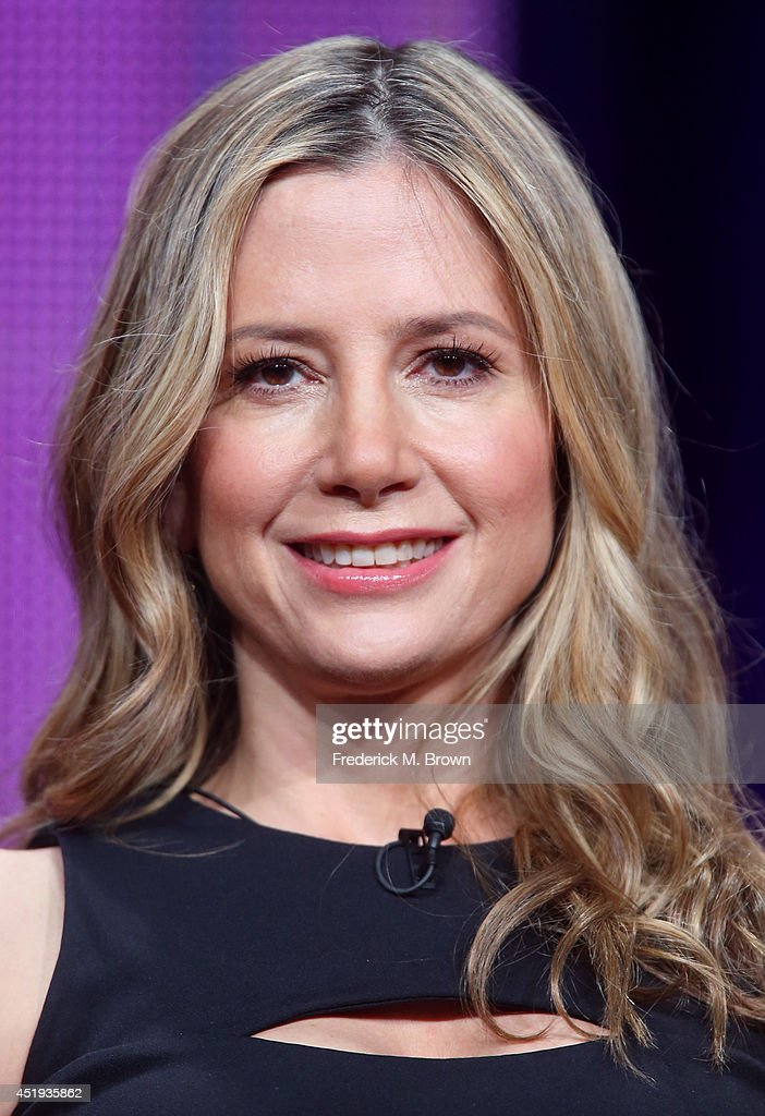 Actress <a gi-track='captionPersonalityLinkClicked' href=/galleries/search?phrase=Mira+Sorvino&family=editorial&specificpeople=203143 ng-click='$event.stopPropagation()'>Mira Sorvino</a> speaks onstage at the 'Intruders' panel during the BBC America portion of the 2014 Summer Television Critics Association at The Beverly Hilton Hotel on July 9, 2014 in Beverly Hills, California.