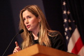 Actress Mira Sorvino United Nations Goodwill Ambassador on HumanTrafficking discusses immigrationrelated law enforcement challenges through the lens...