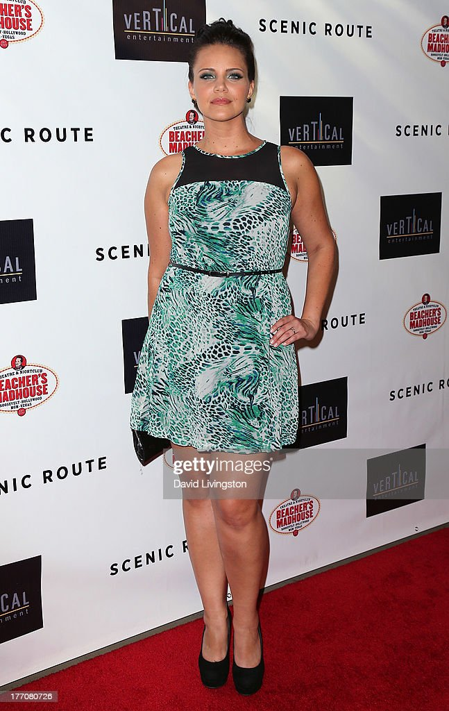Actress Miracle Laurie attends the premiere of Vertical Entertainment's 'Scenic Route' at the Chinese 6 Theaters Hollywood on August 20, 2013 in Hollywood, California.