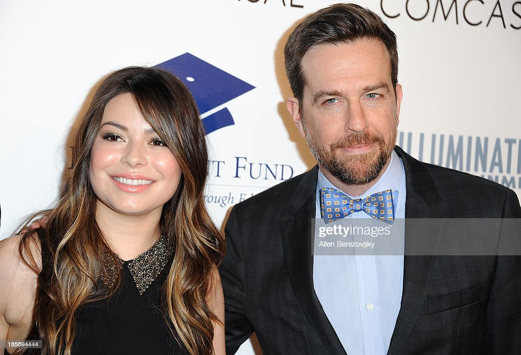 Actress Miranda Cosgrove and actor Ed Helms attend the Fulfillment Fund Stars 2013 Benefit Gala at The Beverly Hilton Hotel on October 23, 2013 in Beverly Hills, California.