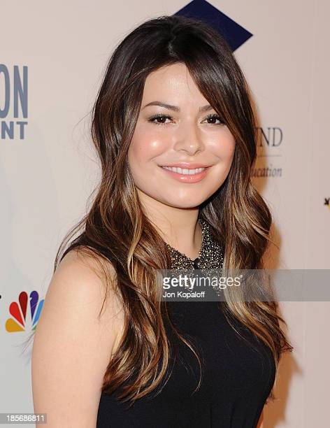 Actress Miranda Cosgrove arrives at Fulfillment Fund Stars 2013 Benefit Gala at The Beverly Hilton Hotel on October 23 2013 in Beverly Hills...