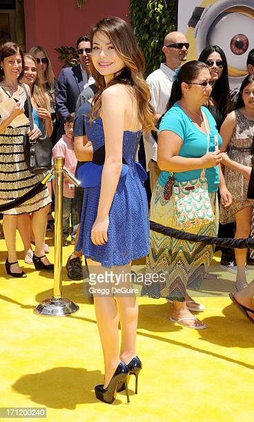 Actress Miranda Cosgrove arrives at the Los Angeles premiere of 'Despicable Me 2' at Universal CityWalk on June 22 2013 in Universal City California