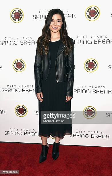 Actress Miranda Cosgrove attends City Year Los Angeles Spring Break Event at Sony Studios on May 7 2016 in Los Angeles California