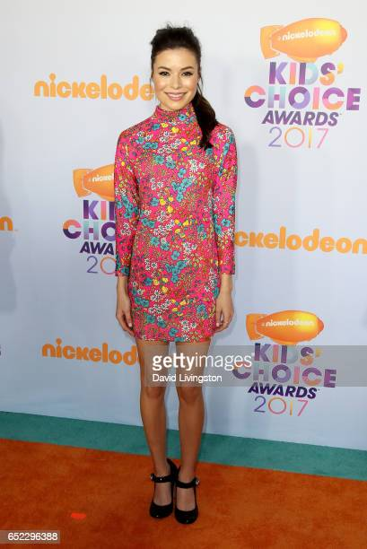 Actress Miranda Cosgrove attends Nickelodeon's 2017 Kids' Choice Awards at USC Galen Center on March 11 2017 in Los Angeles California