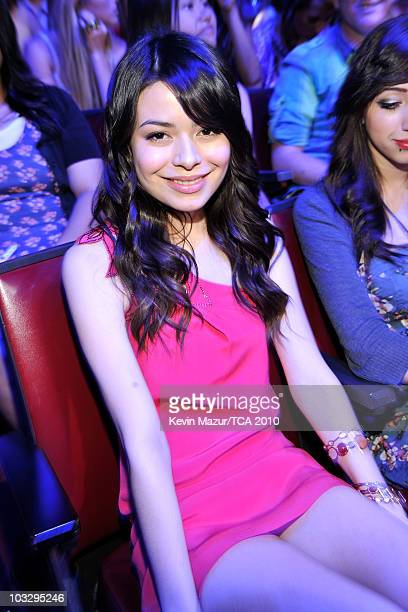 Actress Miranda Cosgrove attends the 2010 Teen Choice Awards at Gibson Amphitheatre on August 8 2010 in Universal City California