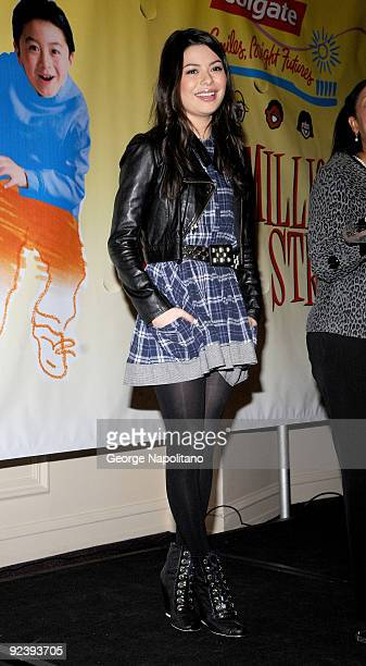 Actress Miranda Cosgrove attends the Colgate Oral Health Festival at Greeley Square Park on October 27 2009 in New York City