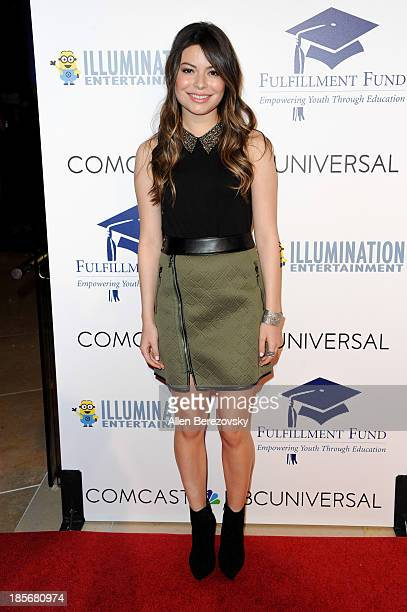 Actress Miranda Cosgrove attends the Fulfillment Fund Stars 2013 Benefit Gala at The Beverly Hilton Hotel on October 23 2013 in Beverly Hills...