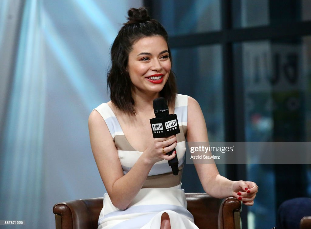 Actress Miranda Cosgrove discusses 'Despicable Me 3' at Build studio on December 7, 2017 in New York City.