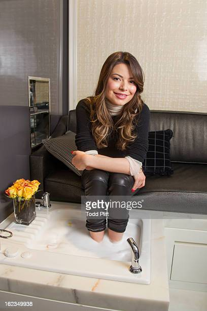 Actress Miranda Cosgrove is photographed for USA Today on November 20 2012 in New York City PUBLISHED IMAGE