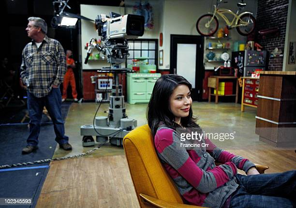 Actress Miranda Cosgrove poses at a portrait session for the Los Angeles Times in Hollywood CA on March 15 2009 PUBLISHED IMAGE CREDIT MUST READ...