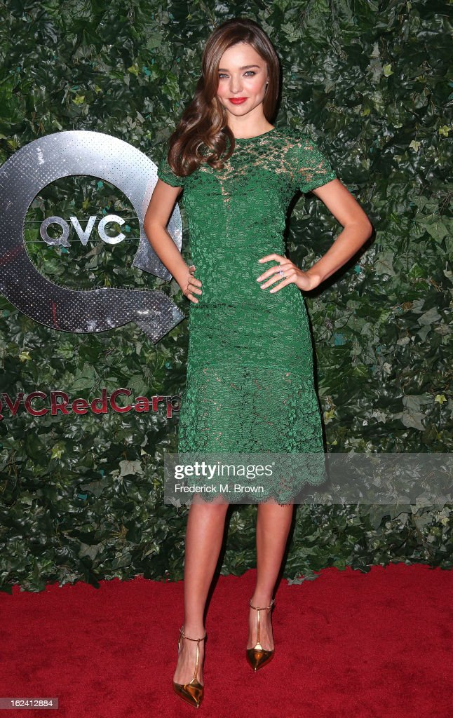 Actress Miranda Kerr attends the QVC Red Carpet Style Event, at the Four Seasons Hotel Los Angeles on February 22, 2013 in Beverly Hills, California.