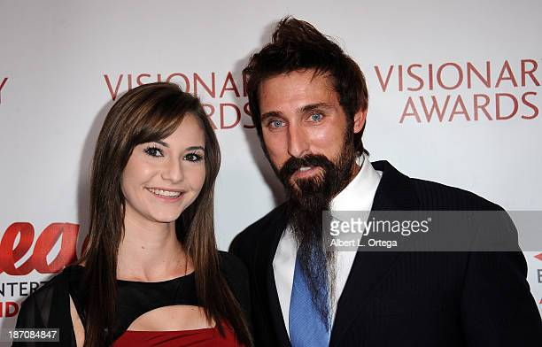 Actress Miranda McCullough and actor Paul J Alessi participates in the Entertainment AIDS Alliance Hosts 16th Annual Visionary Awards held at The...