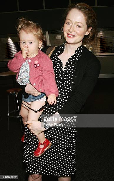 Actress Miranda Otto and her daughter Darcey attend The Wiggles special show to celebrate 15 years in show business at Luna Park on September 13 2006...