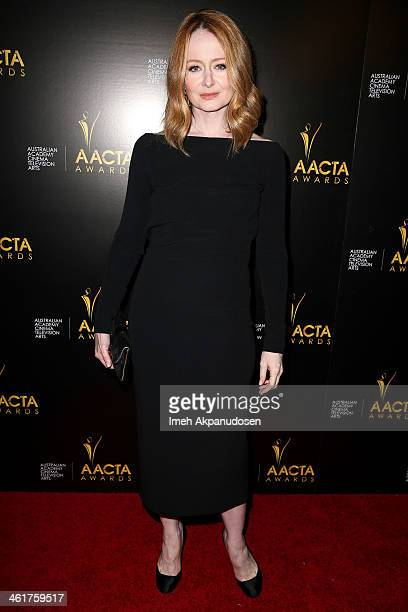 Actress Miranda Otto attends the 3rd Annual Australian Academy International Awards at Sunset Marquis Hotel Villas on January 10 2014 in West...