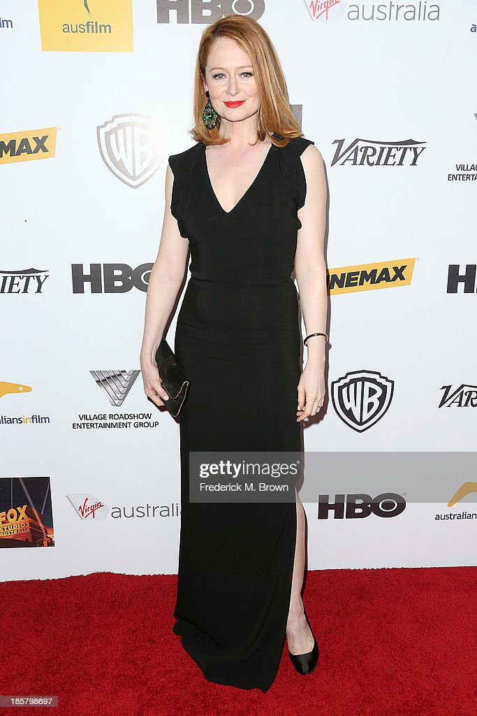 Actress <a gi-track='captionPersonalityLinkClicked' href=/galleries/search?phrase=Miranda+Otto&family=editorial&specificpeople=206382 ng-click='$event.stopPropagation()'>Miranda Otto</a> attends the Australians in Film Benefit Dinner at the at Intercontinental Hotel on October 24, 2013 in Beverly Hills, California.