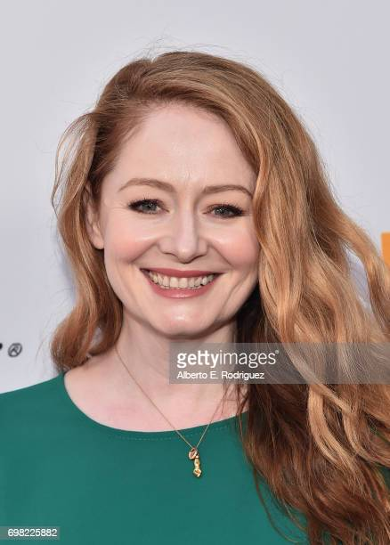 Actress Miranda Otto attends the premiere of Warner Bros Pictures' 'Annabelle Creation during the 2017 Los Angeles Film Festival at The Theatre at...
