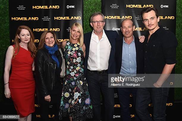 Actress Miranda Otto executive producer Lesli Linka Glatter actress Claire Danes executive producer Alex Gansa executive producer Howard Gordon and...