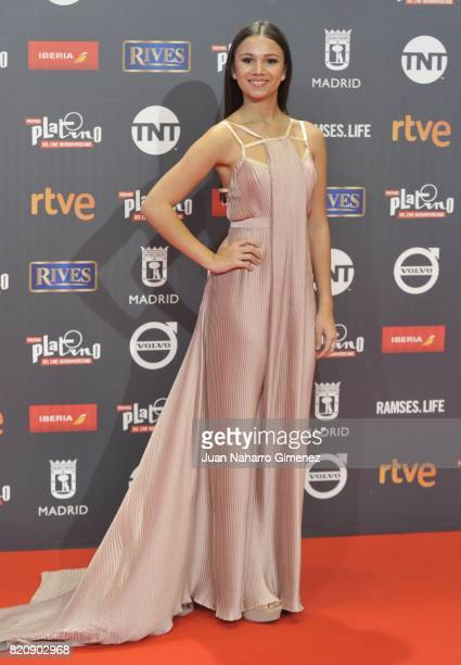 Actress Miranda Purcell attends the 'Platino Awards 2017' photocall at La Caja Magica on July 22 2017 in Madrid Spain