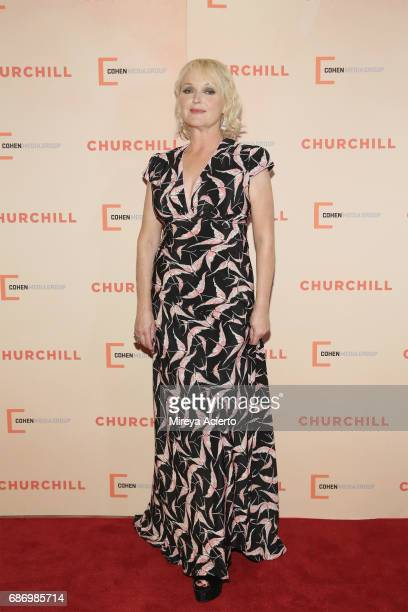 Actress Miranda Richardson attends the 'Churchill' New York premiere at the Whitby Hotel on May 22 2017 in New York City