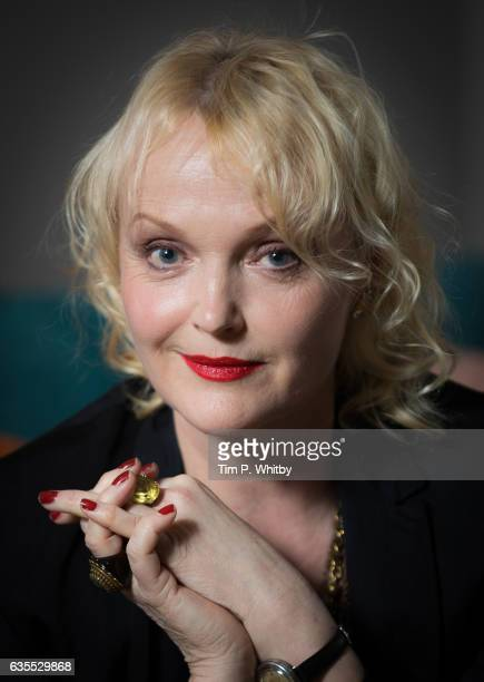 Actress Miranda Richardson poses for a photo ahead of a QA to mark the 25th anniversary of 'The Crying Game' at BFI Southbank on February 15 2017 in...
