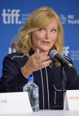 Actress Miranda Richardson speaks onstage at 'Belle' Press Conference during the 2013 Toronto International Film Festival at TIFF Bell Lightbox on...