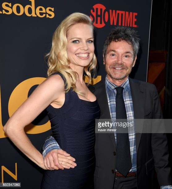 Actress Mircea Monroe and executive producer Jeffrey Klarik arrive at a party for the final season of Showtime Networks 'Episodes' at The Nice Guy on...