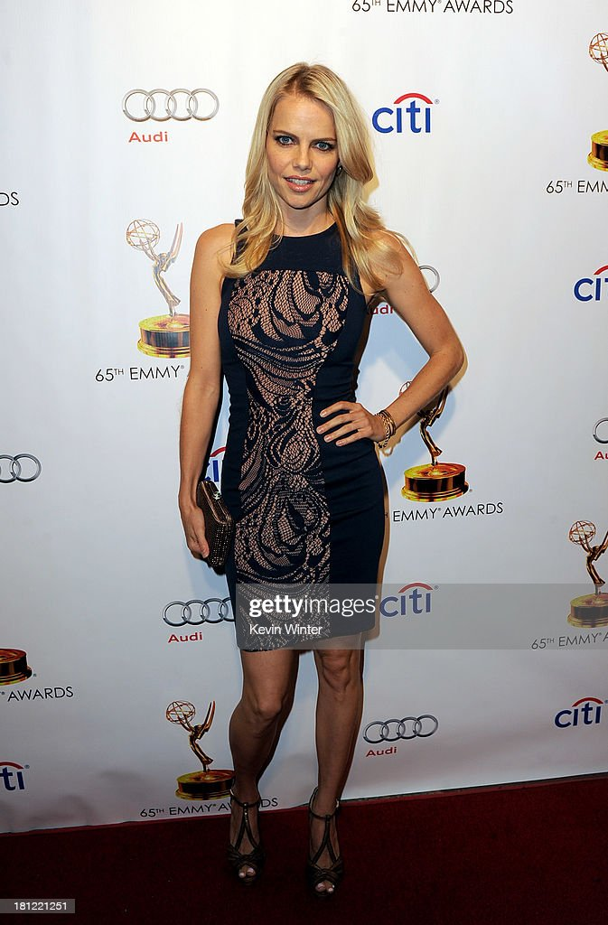 : Actress Mircea Monroe arrives at the 65th Primetime Emmy Awards Writer Nominees reception at the Academy of Television Arts & Sciences on September 19, 2013 in No. Hollywood, California.