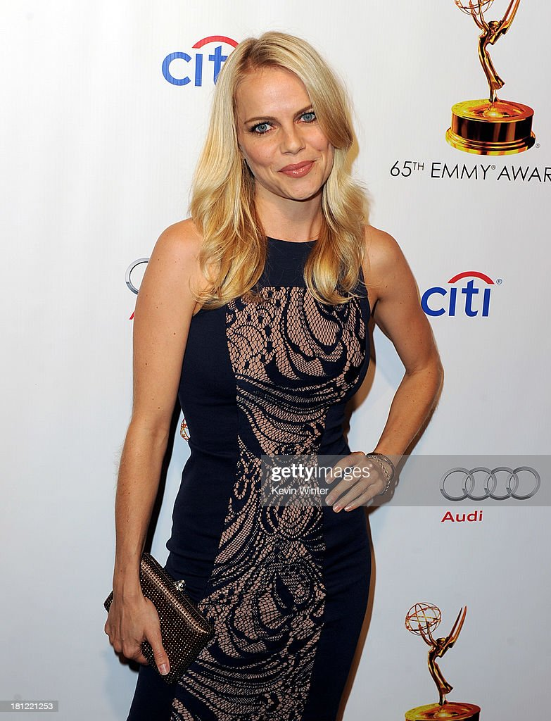 Actress Mircea Monroe arrives at the 65th Primetime Emmy Awards Writer Nominees reception at the Academy of Television Arts & Sciences on September 19, 2013 in No. Hollywood, California.