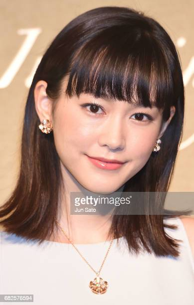 Actress Mirei Kiritani attends the BVLGARI Mother's Day Talk Event on May 13 2017 in Tokyo Japan