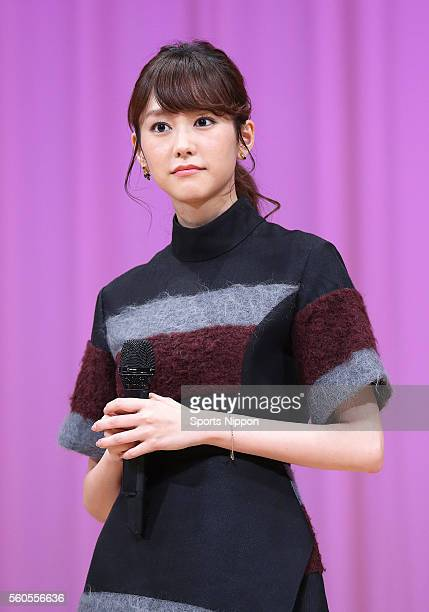 Actress Mirei Kiritani attends the 'Heroine Shikkaku' talk event on September 15 2015 in Tokyo Japan