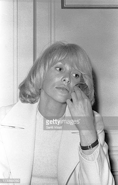 Actress Mireille Darc posing for a portrait on September 101969 in New York New York