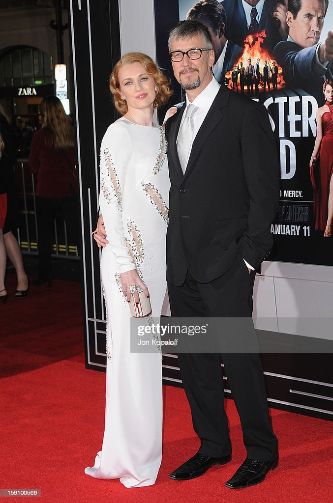 Actress Mireille Enos and husband actor Alan Ruck arrive at the Los Angeles Premiere 'Gangster Squad' at Grauman's Chinese Theatre on January 7, 2013 in Hollywood, California.