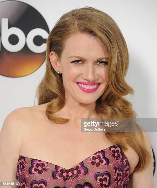 Actress Mireille Enos arrives at the 2017 Winter TCA Tour Disney/ABC at the Langham Hotel on January 10 2017 in Pasadena California