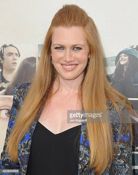 Actress Mireille Enos arrives at the Los Angeles Premiere 'If I Stay' at TCL Chinese Theatre on August 20 2014 in Hollywood California