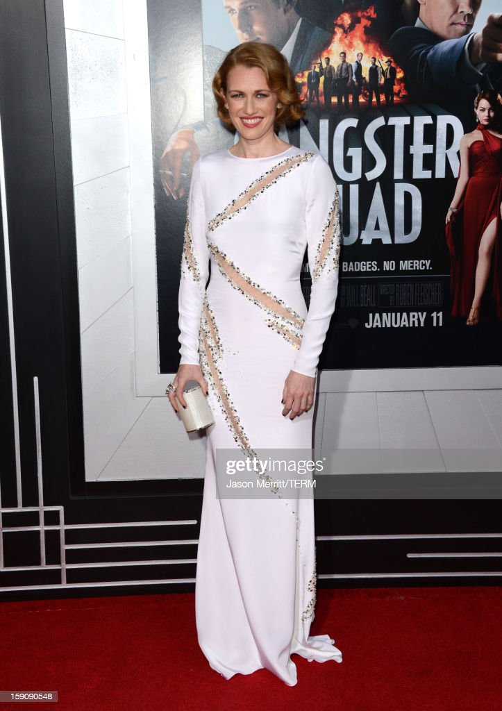 Actress Mireille Enos arrives at Warner Bros. Pictures' 'Gangster Squad' premiere at Grauman's Chinese Theatre on January 7, 2013 in Hollywood, California.