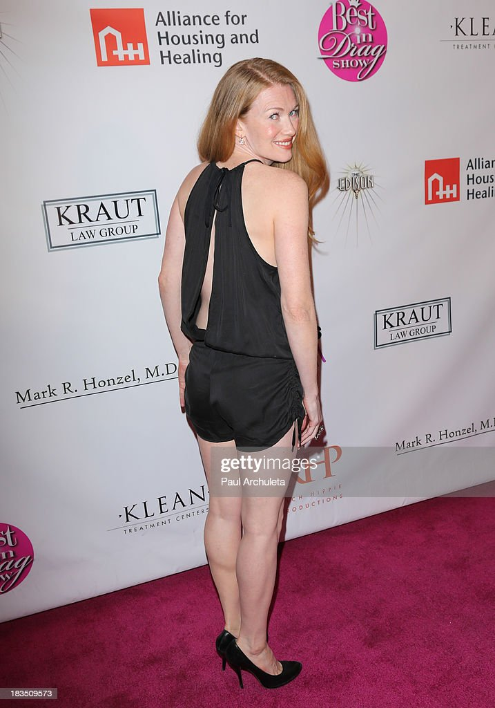 Actress <a gi-track='captionPersonalityLinkClicked' href=/galleries/search?phrase=Mireille+Enos&family=editorial&specificpeople=784800 ng-click='$event.stopPropagation()'>Mireille Enos</a> attends the 11th annual Best In Drag Show at The Orpheum Theatre on October 6, 2013 in Los Angeles, California.