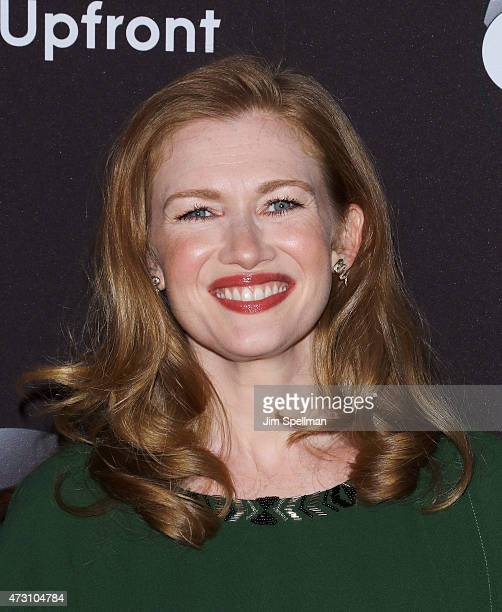 Actress Mireille Enos attends the 2015 ABC upfront presentation at Avery Fisher Hall at Lincoln Center for the Performing Arts on May 12 2015 in New...