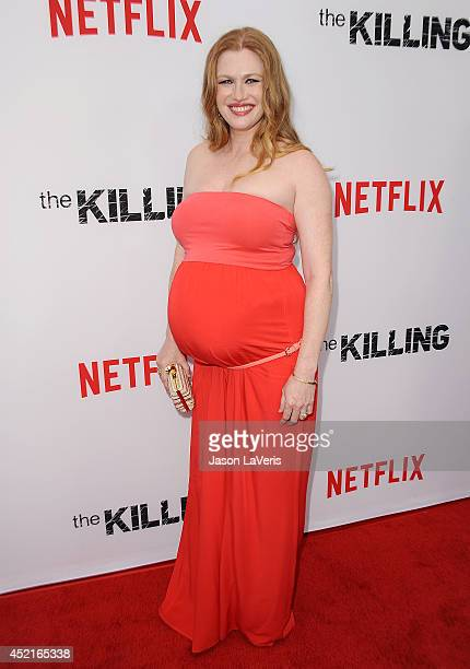 Actress Mireille Enos attends the season 4 premiere of 'The Killing' at ArcLight Hollywood on July 14 2014 in Hollywood California