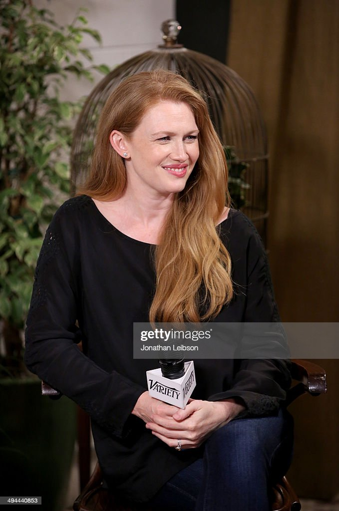 Actress Mireille Enos attends the Variety Studio powered by Samsung Galaxy at Palihouse on May 29 2014 in West Hollywood California
