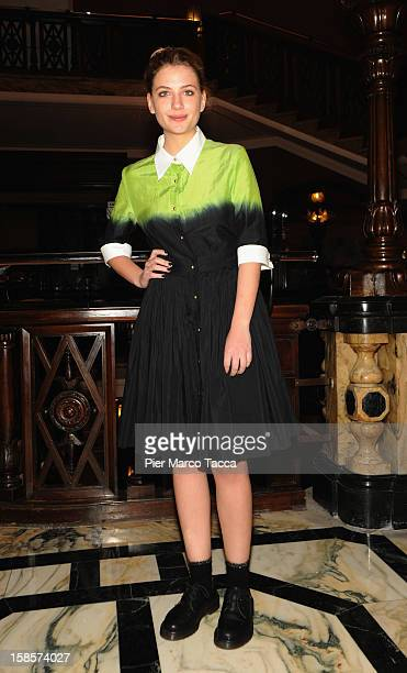 Actress Miriam Giovanelli attends I 2 Soliti Idioti photocall on December 19 2012 in Milan Italy