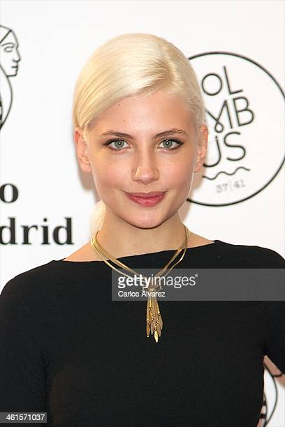 Actress Miriam Giovanelli attends the Casino Gran Madrid Colon opening on January 9 2014 in Madrid Spain