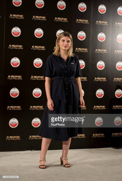 Actress Miriam Giovanelli attends the 'El pelotari y la fallera' photocall at Me hotel on April 5 2017 in Madrid Spain