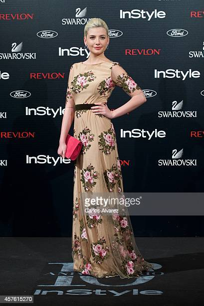 Actress Miriam Giovanelli attends the In Style Magazine 10th Anniversary party at the Melia Fenix Hotel on October 21 2014 in Madrid Spain