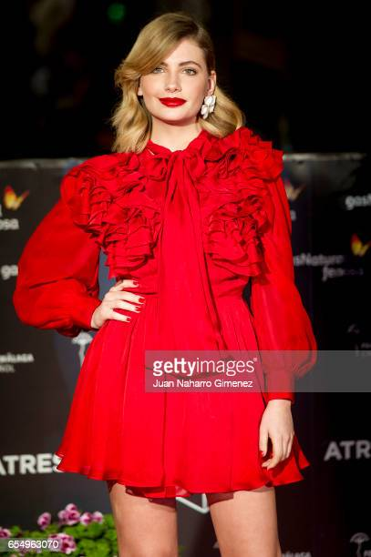 Actress Miriam Giovanelli attends the 'Nieve Negra' premiere during the 20th Malaga Film Festival 2014 Day 2 at the Cervantes Theater on March 18...