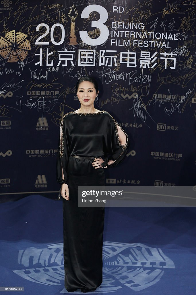 Actress Miriam Yeung arrives at the closing ceremony red carpet during the 3rd Beijing International Film Festival at China National Convention Center on April 23, 2013 in Beijing, China.