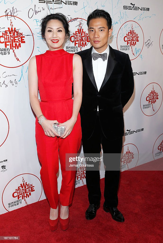 Actress Miriam Yeung (L) attends the 4th New York Chinese Film Festival Opening Night at Alice Tully Hall at Lincoln Center on November 5, 2013 in New York City.