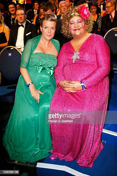 Actress Mirja Boes and Cindy aus Marzahn attend the German TV Award 2010 at Coloneum on October 9 2010 in Cologne Germany