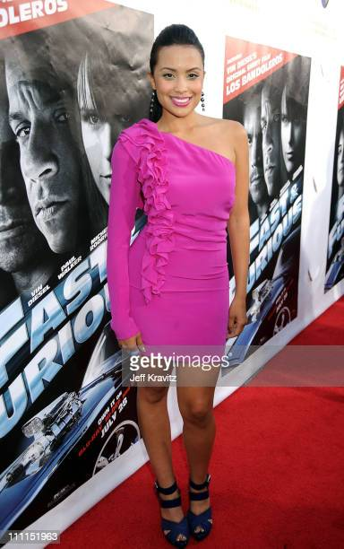Actress Mirtha Michelle attends Universal Studios Home Entertainment's DVD release of Fast Furious kick off with the US Premiere of Vin Diesel's...