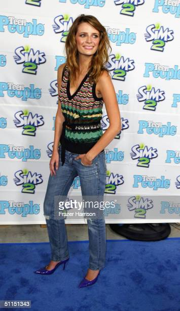 Actress Mischa Barton arrives at the 1st Annual Teen People 'Young Hollywood' Issue party held on August 7 2004 at the Teen People mansion in the...